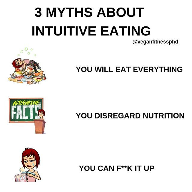 3 myths about intuitive eating