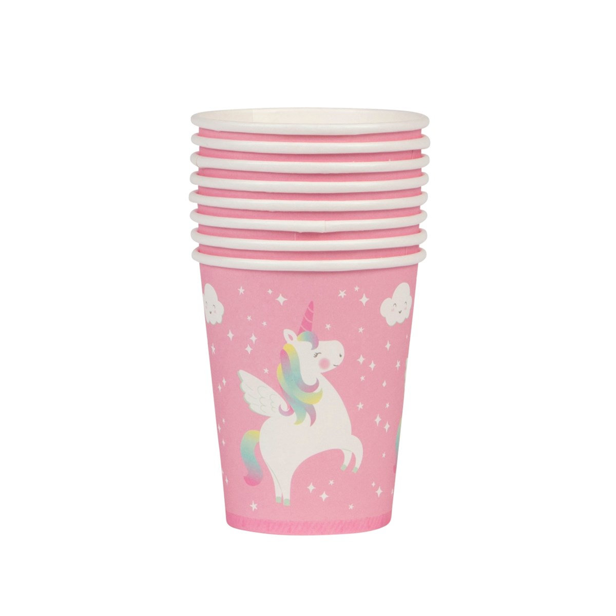 Set of 8 Rainbow Unicorn Paper Cups   the-page