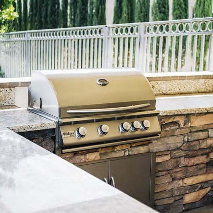 Summerset Sizzler 32-Inch 4-Burner Built-In Propane Gas Grill With Rear Infrared Burner - SIZ32-LP-I