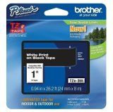 "Brother TZe355  24mm (0.94"") White on Black tape for P-Touch 8m (26.2 ft)"