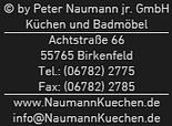 Küchenstudio Naumann - Die Küchenflüsterer in Birkenfeld
