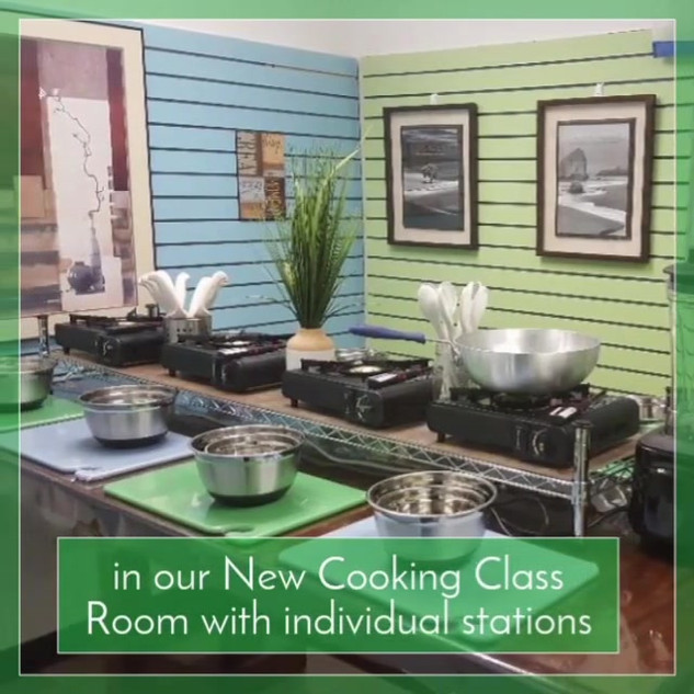 We are hosting 2 cooking classes on Tues