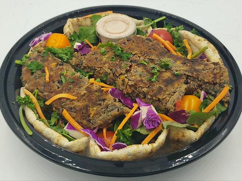 16- Quinoa Mushroom Burger on Salad or Wrap