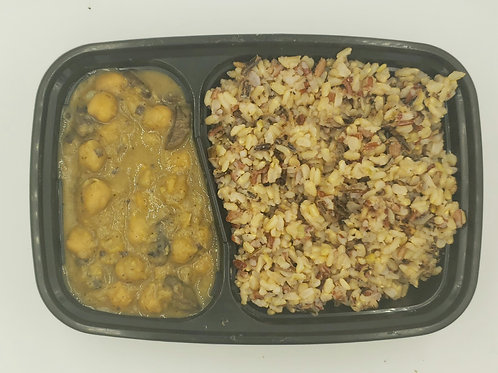 10 - Chickpea Stew with Mushroom and Wild Rice