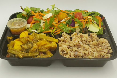 11-Roasted Veggies with Wild Rice and Big Salad