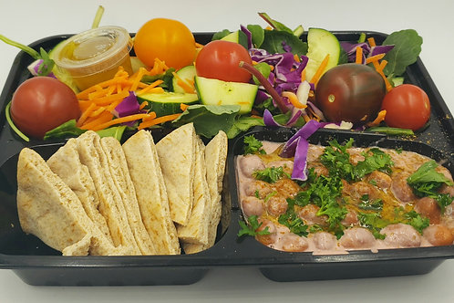 07- Foul Habb with Pita Bread and Big Salad