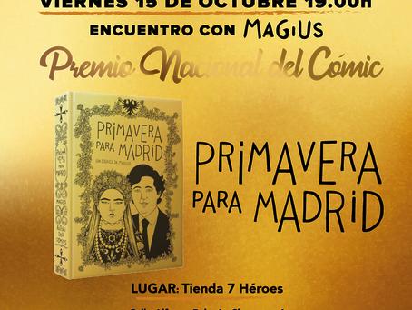 Encuentro con Magius, Premio Nacional del Cómic