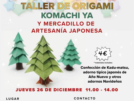 TALLER DE ORIGAMI KADO-MATSU y mercadillo de artesanía japonesa