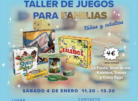 TALLER DE JUEGOS PARA FAMILIAS