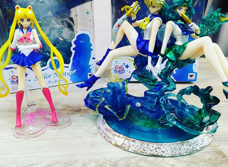 Figuras de Sailor Moon, Sailor Urano y Sailor Neptuno