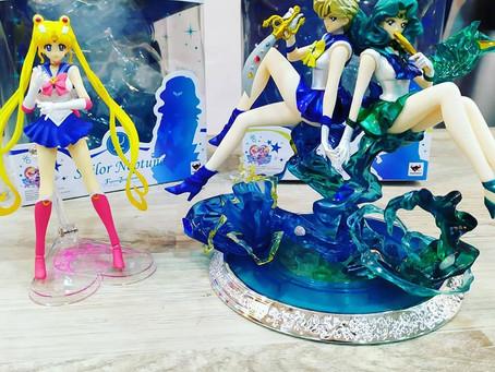 Figuras de Sailor Moon, Sailor Urano y Sailor Neptuno