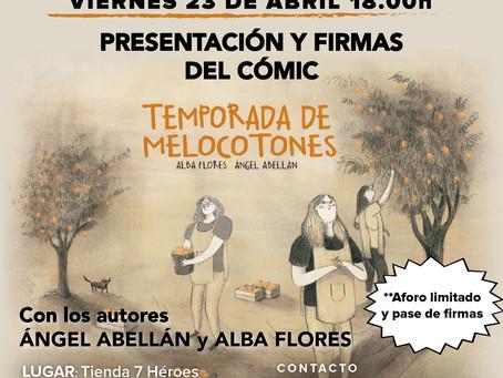 """Presentación y firmas del cómic """"Temporada de Melocotones"""""""