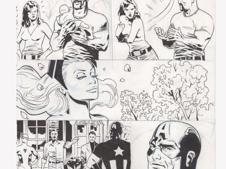 Subasta Original comic art by Daniel Acuña (Avengers Brian Michael Bendis #19 p. 15)