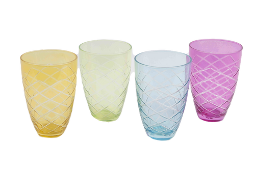 Vaso De Cristal De Colores