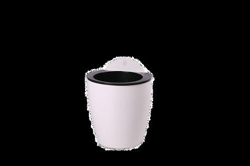 Macetero Blanco Con Filtro Pequeño