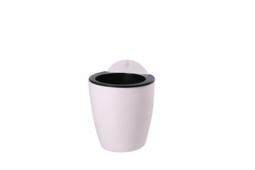 Macetero Blanco Con Filtro Grande
