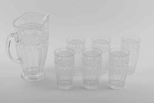 Set De Jarra (6 Vasos & 1 Jarra)