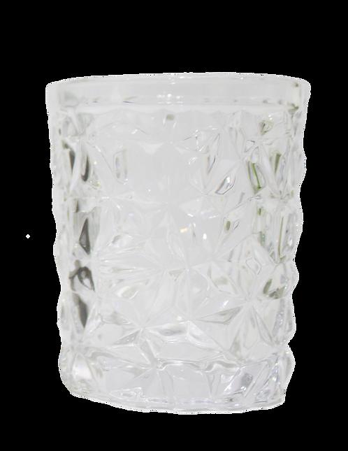 Vaso De Vidrio Brocado Corto