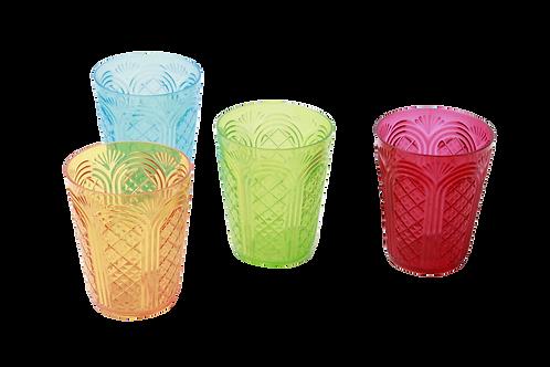 Set De Vasos Plásticos De Colores 4/1