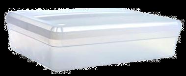 Caja Transparente Tucker Mediana Con Tapa