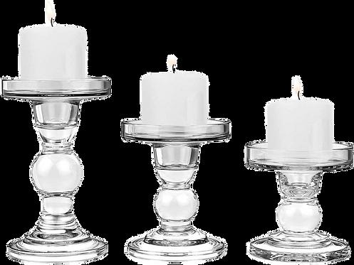 Candelabro Cristal De 3 Unidades
