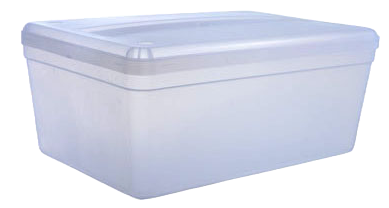 Caja Transparente Tucker Grande Con Tapa