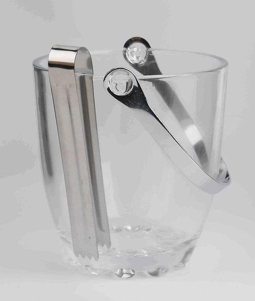 Vaso De Cristal De Hielo Con Pinza