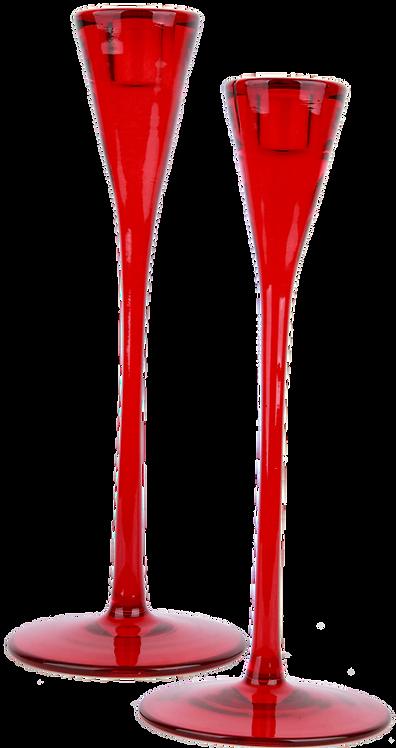 Candelabro Cristal Rojo
