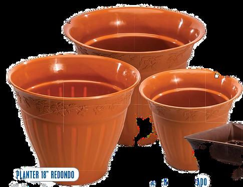 "Tarro Planter 22"" Redondo"