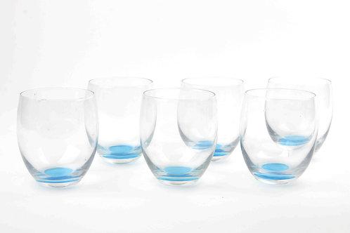 Set De Vasos Azul Cortos