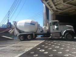 Loading White Cement Truck
