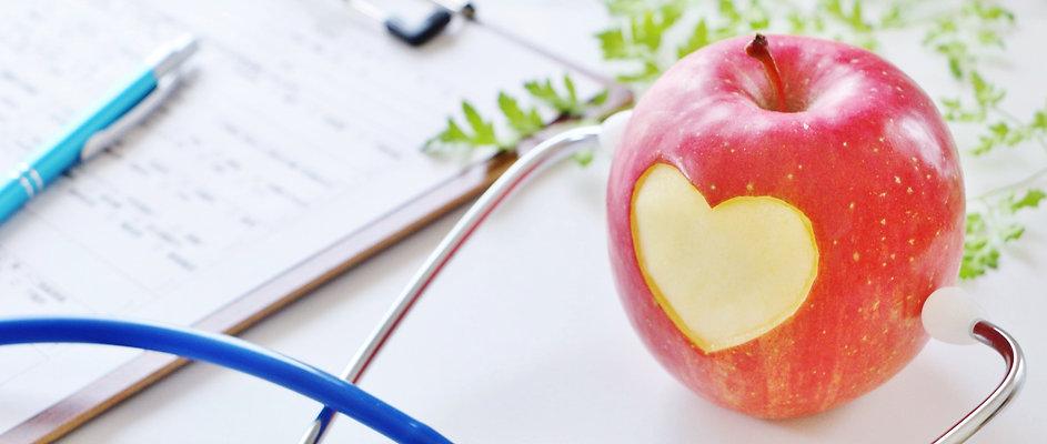 ハート形のリンゴ