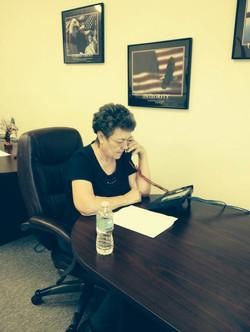 Marie Tillman on the Phone