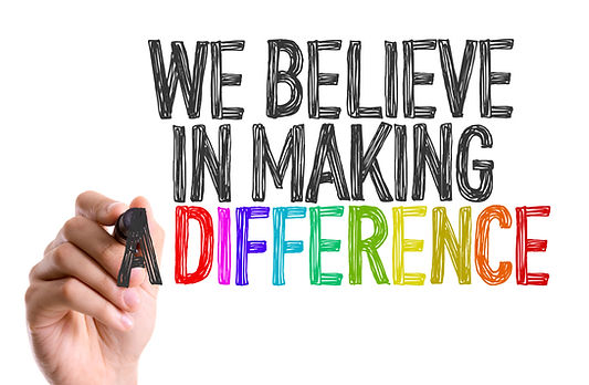 """Picture stating """"We Believe in Making a Difference"""""""