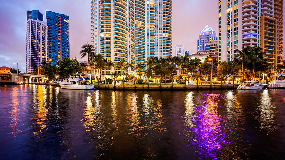 Picture of Downtown Fort Lauderdale at night