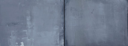 When Souls Collide III, 2021 Pigment and acrylic on wood 11 x 28 inches  28 x 71 cm