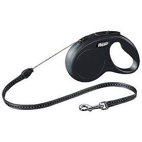 laisse-flexi-new-classic-noire-avec-cord