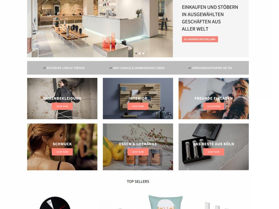 UX - Sugartrends Homepage