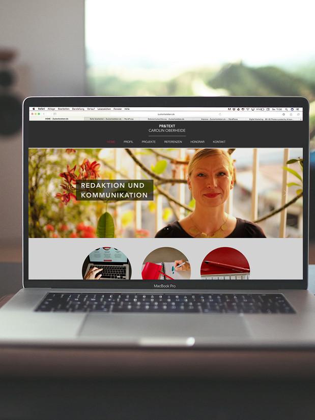 Web Design - Caroline Oberheide