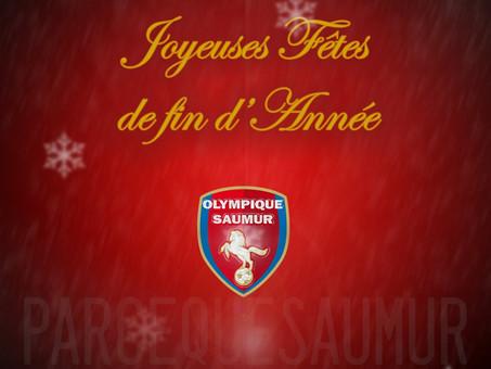 L'Olympique vous souhaite de joyeuses fêtes de fin d'année!