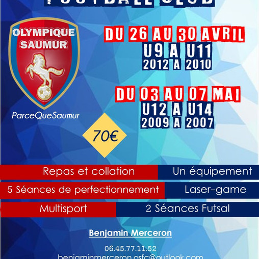 L'Olympique Stage Football Club à paques!