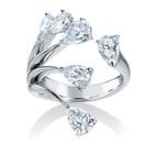 ペアシェイプカットダイヤモンドリング