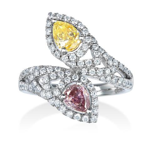 イエロー&ピンクダイヤモンドリング