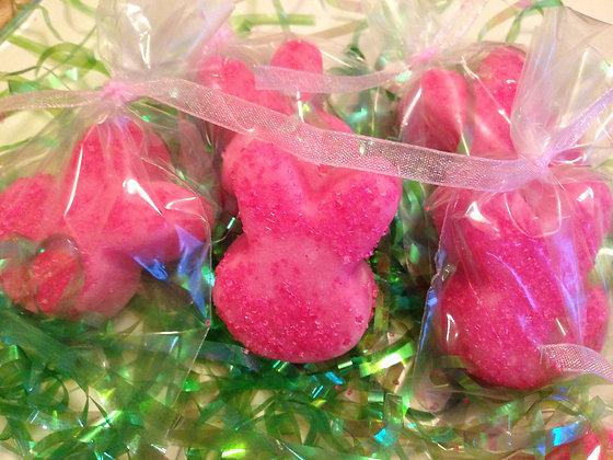 Pink Bubble Bath Bunny