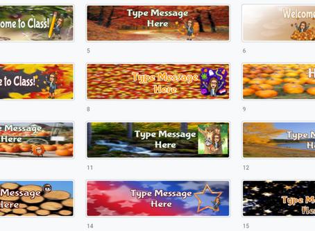 Google Classroom Banners 🍁(Set 3) 🍂 Fall-Winter❄☃ themes