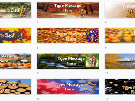 Google Classroom Banners 🍁(Set 3) 🍂 Fall-Winter❄☃ themes