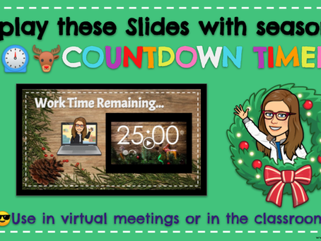 🎄🦌⏲Holiday Countdown Timers