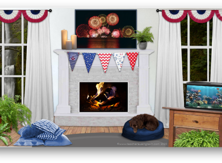 Patriotic Edition of the Virtual Calming Room