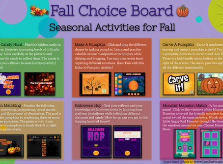 Fall Choice Board 🎃
