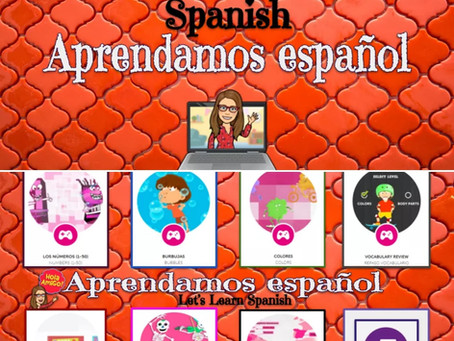 Let's Learn Spanish! Choice Board⭐